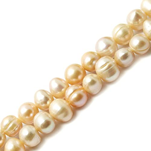 35.5cm/lot 4.5-10mm White Ivory Color Freshwater Pearl Beads Loose Beads for Jewelry Making DIY Necklace