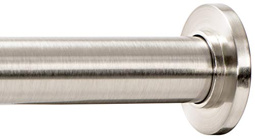 Ivilon Tension Curtain Rod - Spring Tension Rod for Windows or Shower, 24 to 36 Inch. Brushed Nickel