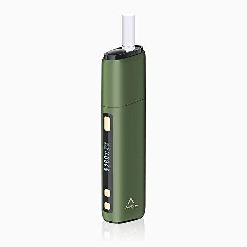 (Ultima Versione) LAMBDA CC - Dispositivo di riscaldamento non bruciatura per tabacco Heets Heat Sticks Heat-not-Burn con parte sostituibile della lama riscaldante Starter Kit (verde oliva)
