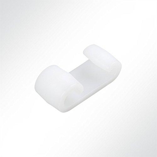 LYSEL Kunststoff Expanderdoppelhaken, (BxL) 20x50mm in Weiß (10 Stück)