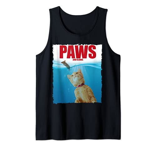 Paws & Claws Funny Cat Lover Sarcastic Mouse Kitten Camiseta sin Mangas