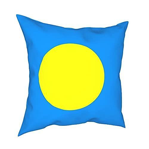 SFDGBTH Flagge von Palau Dekorative Kissenbezug, 18 x 18 Zoll, Leinenkissenbezug Rechnung gestellt Kissenbezug, geeignet für Häuserdekoration von Auto-Sofa
