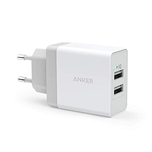 Anker 24W 2 Port USB Ladegerät mit PowerIQ Technologie, Reise Ladegerät für iPhone, iPad, Samsung Galaxy, Note, Nexus, HTC, Motorola, LG, Xiaomi & weitere (Weiß)