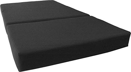 D&D Futon Furniture Black Twin Size Shikibuton Trifold Foam Beds 6 x 39 x 75, 1.8 lbs high Density...