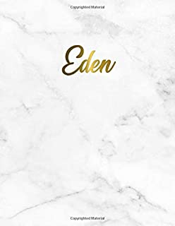 Eden: Cute Personal 2019-2020 Academic Planner with Weekly Views, Monthly & Yearly At A Glance, To Do's, Notes, Vision Boards, Inspirational Quotes and More. Nifty Marble & Gold Organizer & Calendar.
