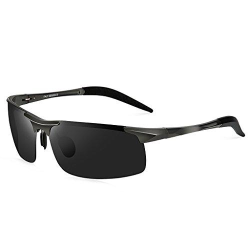 Sonnenbrillen Männer Polarisierte Sonnenbrillen Gezeiten Sonnenbrillen Herren Fahren Spezielle Polarisations - Spiegel Aluminium und Magnesium Drivers 'Mirrors Brille (Farbe : B)