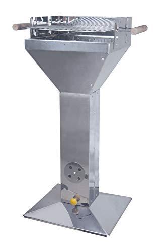Westerholt 2196 Edelstahl Stand Säulengrill Grill quadratisch