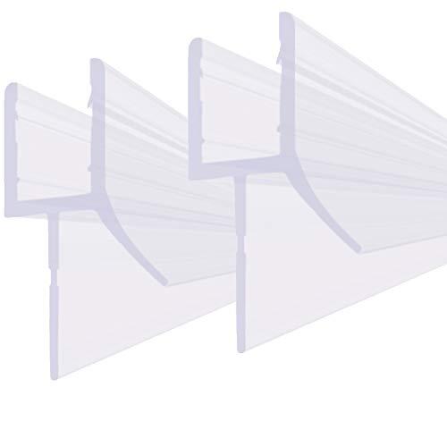 bijon® Duschdichtung DU02-Set für 5mm - 8mm / 80cm - 100cm | Wasserabweisende Duschkabinen Dichtungen - weiche & flexible Gummilippe (5mm und 6mm, 2x 100cm)