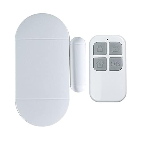 Trådlöst dörrlarm med fjärrkontroll Windows öppet larm Hemsäkerhetssensor Poollarm för barn Säkerhet Stöldskydd Vit 90 * 43 * 13mm