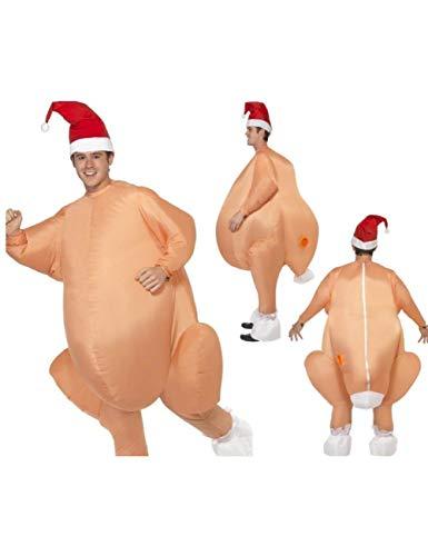 GBYAY Disfraz de Pavo asado Pollo de Halloween para Adultos Disfraces de Navidad Mascota Cosplay Disfraz Ropa
