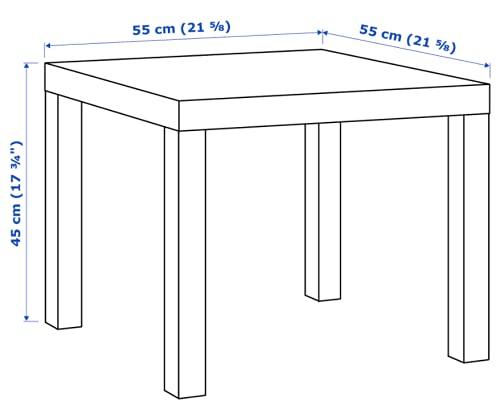 IKEA Lack Beistelltisch in schwarz; (55x55cm)