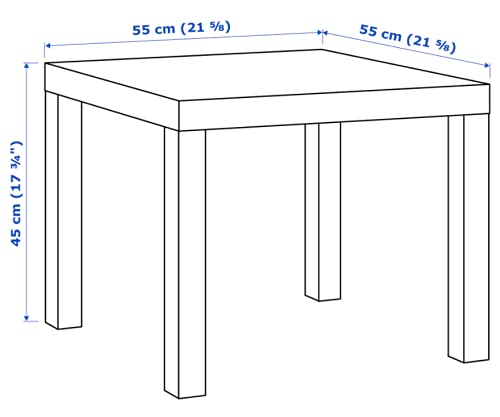 Ikea - Mesa Auxiliar lacada (55 x 55 cm), Color Negro