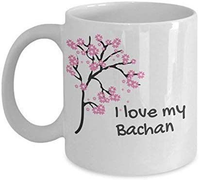 N\A Taza de café I Love My Bachan Cherry Blossom Japan-11OZ