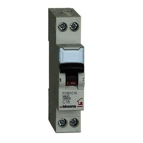 Bticino C16 Interruttore Magnetotermico 1P+N, 4500 A
