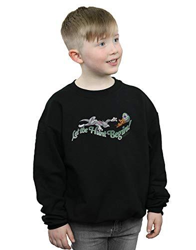Absolute Cult Tom and Jerry Jungen Let The Hunt Begin Sweatshirt Schwarz 5-6 Years