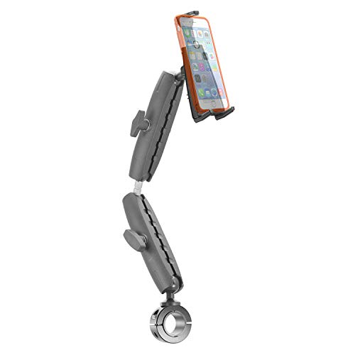 iBOLT sPro2 Accessibility Post / Pole / Rail / Handlebar Mount for Wheelchairs / Exercise Equipment. Fits Devices from 4.7 to 6.7 inches Wide/ Tall (iPhone 11, Small Tablets, Nintendo Switch)