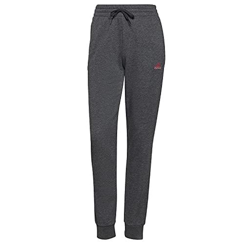adidas W Lin FT C PT Pants, Dark Grey Heather/Rose Tone, 2XL Women's