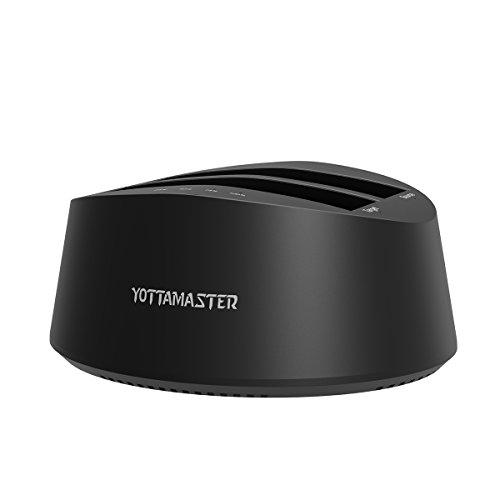 Yottamaster Typ C Dual Bay HDD SSD Docking Station mit Offline Clone Funktion für 2,5