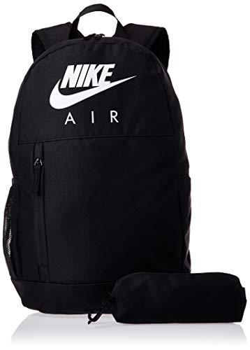 Nike Kinder Elemental Rucksack, Black/Black/White, 46 x 31cm x 13 cm