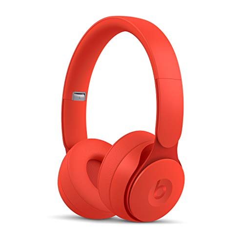 Beats Solo Pro WirelessNoise Cancelling On-Ear Headphones - Apple H1 Headphone Chip, Class 1Bluetooth, Active Noise Cancelling, Transparency, 22 Hours of Listening Time- Red