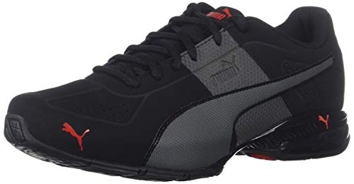 PUMA Men's Cell Surin 2 FM Sneaker, Black-Dark Shadow-high Risk red, 11 M US
