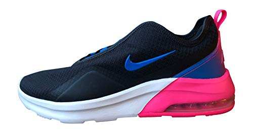Nike Women's Air Max Motion 2 Running Shoes, 10, Black/Photo Blue-Hyper Pink