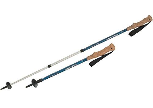 Komperdell 1742441 Highlander Cork Bâton de Protection pour Adulte Argenté/Bleu Taille Unique