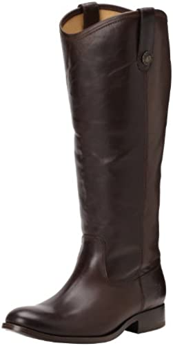 FRYE damen& 039;s Melissa Button Stiefel, Dark braun Wide Calf Smooth Vintage Leather, 11 M US