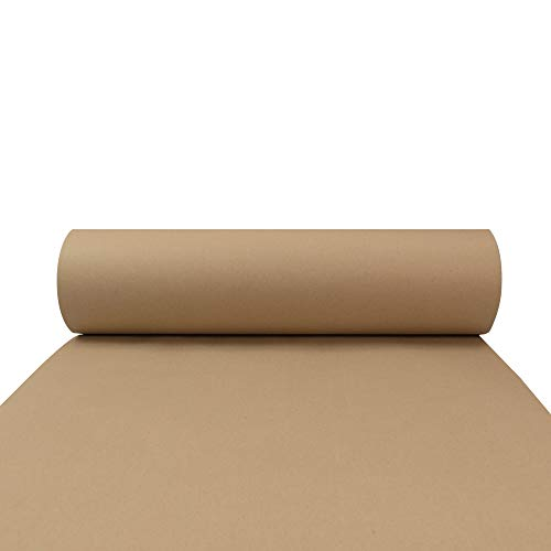 Triplast Geschenkpapier-Rolle, umweltfreundlich, 100% recyceltes Papier, biologisch abbaubar, recycelbar, 50 m, Braun