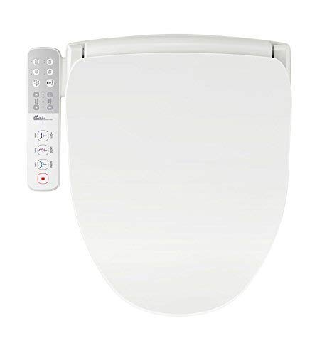 Bio Bidet Slim One Smart Toilet Seat in Round White with Stainless Steel Self-Cleaning Nozzle,...
