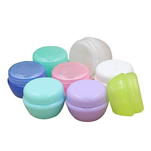 8Pcs Cosmetic Leere Behälter aus Kunststoff Make-up Muster Round Pot Jar Pilzform Sahnebehälter...