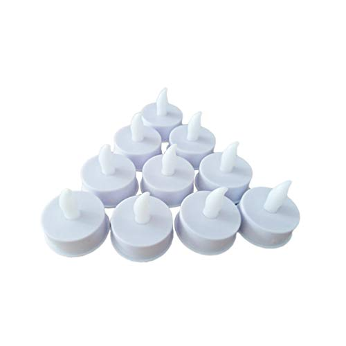 SOLUSTRE 60Pcs Flameless LED Tea Light Battery Operated Flickering Candles Light Desktop Electric Tea Candles for Wedding Party Bar Decoration (Yellow Light)