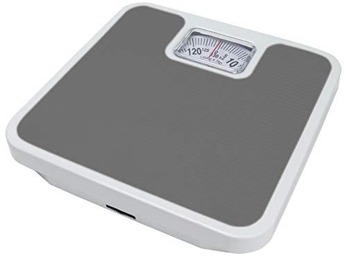 マクロス体重計昔ながらのアナログ式見やすい大文字グレーMCH-8