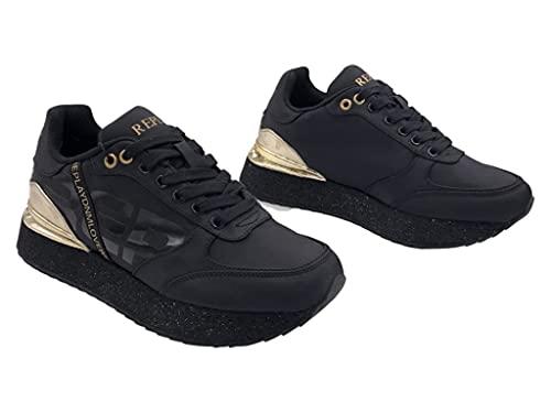 Replay Damen Penny-KENELLY Sneaker, 003 Black, 37 EU