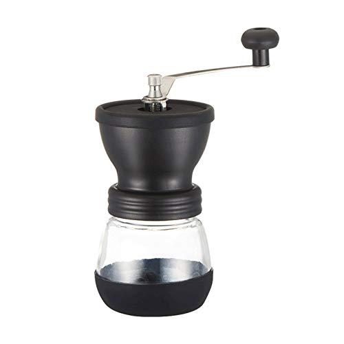 Molinillo de café manual Máquinas de café de cerámica - Manual del grano de café Burr Grinder con el tarro de cristal fortificada almacenamiento duradero Bean cafe molino de café Cocina Herramientas d