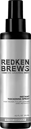 Redken Brews Instant Thickening Hair Spray for thinning hair and hair loss 4 2 Fl Oz product image