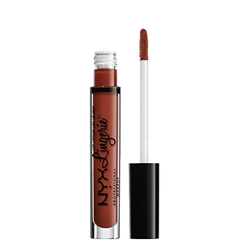 NYX PROFESSIONAL MAKEUP Pintalabios Lip Lingerie Liquid Lipstick, Acabado Cremoso y Mate, Larga Duración - Tono Exotic (800897848392)