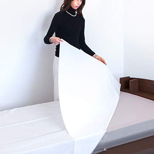 防水シーツ 2枚組 180×240cm 衛生的な使い捨て ビニールシーツ フリーカット 介護 おねしょ対策