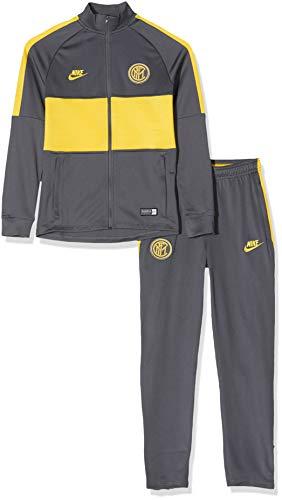 Nike Inter Y Nk Dry Strk TRK Suit K Sportset, Unisex, Kinder, Dunkelgrau / Dunkelgrau / Gelb, S
