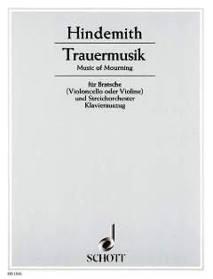 TRAUERMUSIK - arrangiert für Viola - Klavier [Noten / Sheetmusic] Komponist: HINDEMITH PAUL