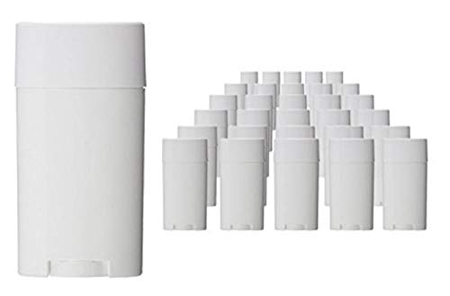 Wholesale 5ML BPA Free White Empty Plastic Oval Lip Balm Tubes Deodorant Containers Lipstick Tube Bottle For Chapstick Homemade Crayon (12PCS)