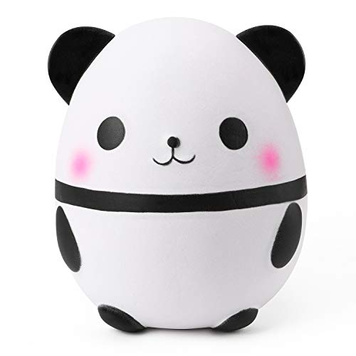 WATINC Jumbo Panda Egg Squishies, Kawaii Cream Scented Slow Rising Toys for Kids Party Favors, Stress Relief Toys for Kids Adults, Cute Animal Squeeze Toys for Birthday Gift, Collection, Simulation