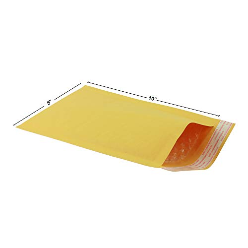 StarBoxes Kraft Bubble Mailer Envelopes 5' x 10' #00 Pack of 250For Shipping Home Appliance Parts, Yellow (KBM000510250)