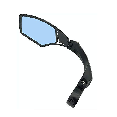Hafny NEW Handlebar Bike Mirror, HD,Blast-resistant, Glass Lens, HF-MR095 (Anti-glare left)