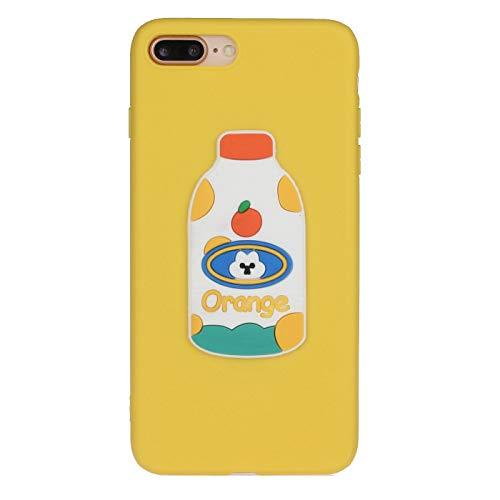 Boloker Funda para iPhone 8/7 Plus (5,5 Pulgadas) [con Protector Pantalla] Slim Elegante Transparente TPU Silicona Cubierta Glitter Cristal Choque Absorción Smartphone Funda Case (Botella)