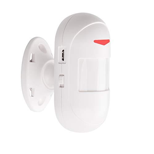 Mengshen Sensor De Movimiento B - Funciona con Sirena, Alarma, Receptor De Timbre Inalámbrico