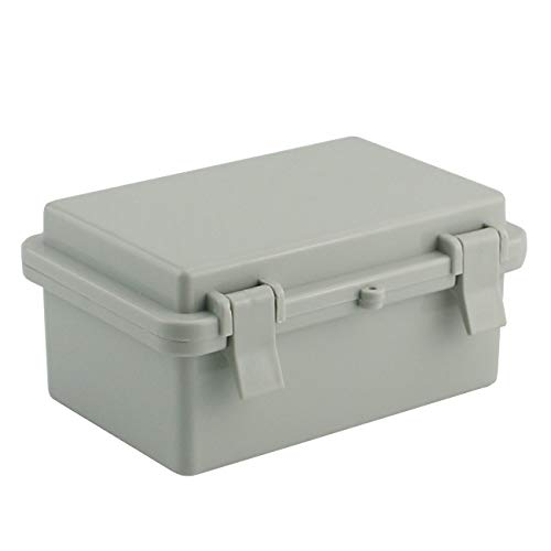 """Sunnyglade ABS Plastic Dustproof Waterproof IP65 Junction Box Universal Durable Electrical Project Enclosure With Lock (3.9""""x5.9""""x2.8"""")"""