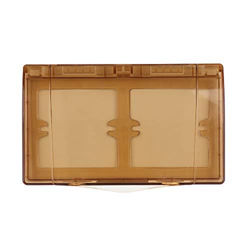 Suministros de baño Toma de corriente de seguridad niño doble zócalo protector de salpicadura caja de enchufe eléctrico cubierta (marrón)