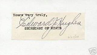 Edward J. Hughes signed clipping Illinois Sec of State