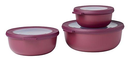 Mepal Set Multischüssel Cirqula flach, 3-teilig (350, 750, 1250 ml) -Nordic Berry set-cirqula-3-teilig-3507501250-nordic-berry, pp/TPE, 0 mm, 3